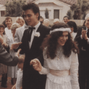 Johnny Depp's First wife wedding pic