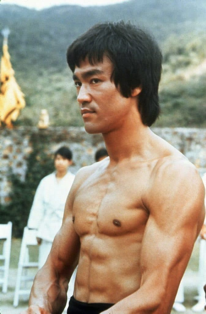 Bruce Lee ripped abs