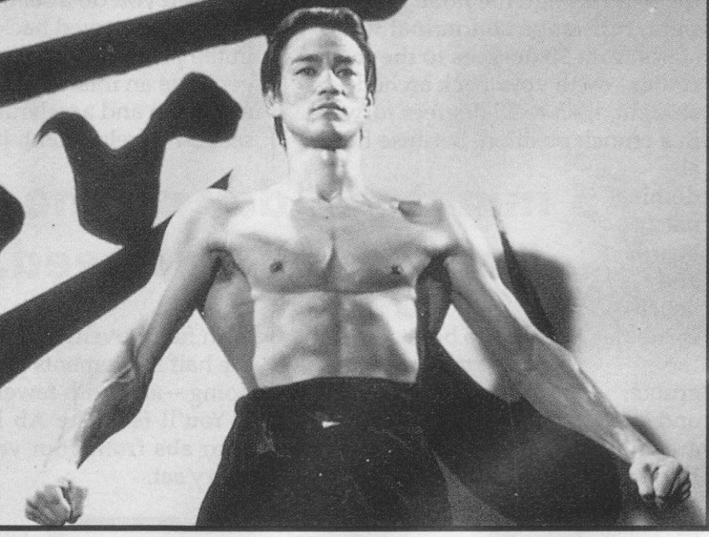 Bruce Lee V-taper and muscular lats