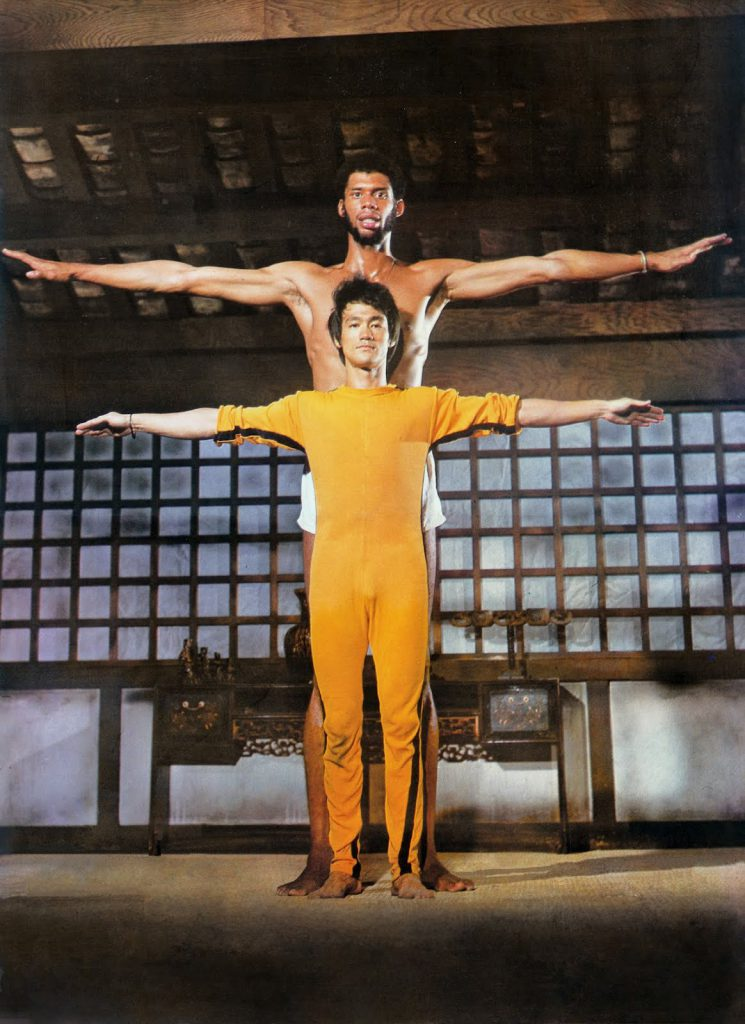 Bruce Lee with NBA basketball player wingspan