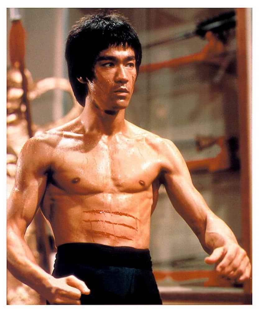 Bruce Lee had crazy abs