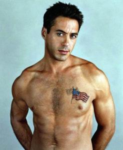 Robert Downey Jr shirtless photo