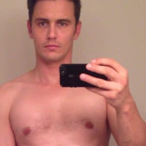 hot pic of james franco taking a selfie nude