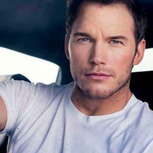 Chris Pratt handsome white t-shirt