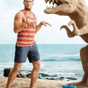 Chris Pratt t-rex