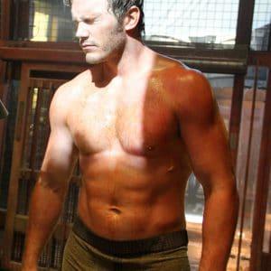 Chris Pratt sweaty and shirtless