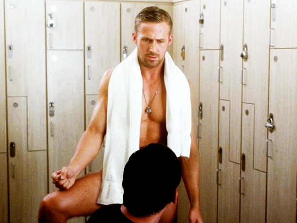 insanely hot nsfw Ryan Gosling in locker room