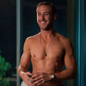 hollywood star Ryan Gosling bares his body