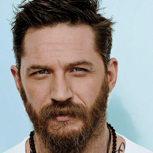 sexy tom hardy with beard in gq magazine