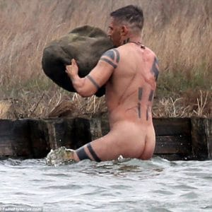 celeb tom hardy bare ass exposed