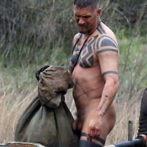 Hardy shows his dick while filming Taboo