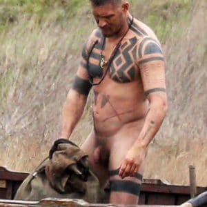 actor tom hardy's cock out during filming