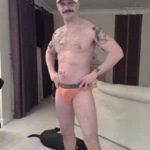 leaked pic of tom hardy with orange underwear on