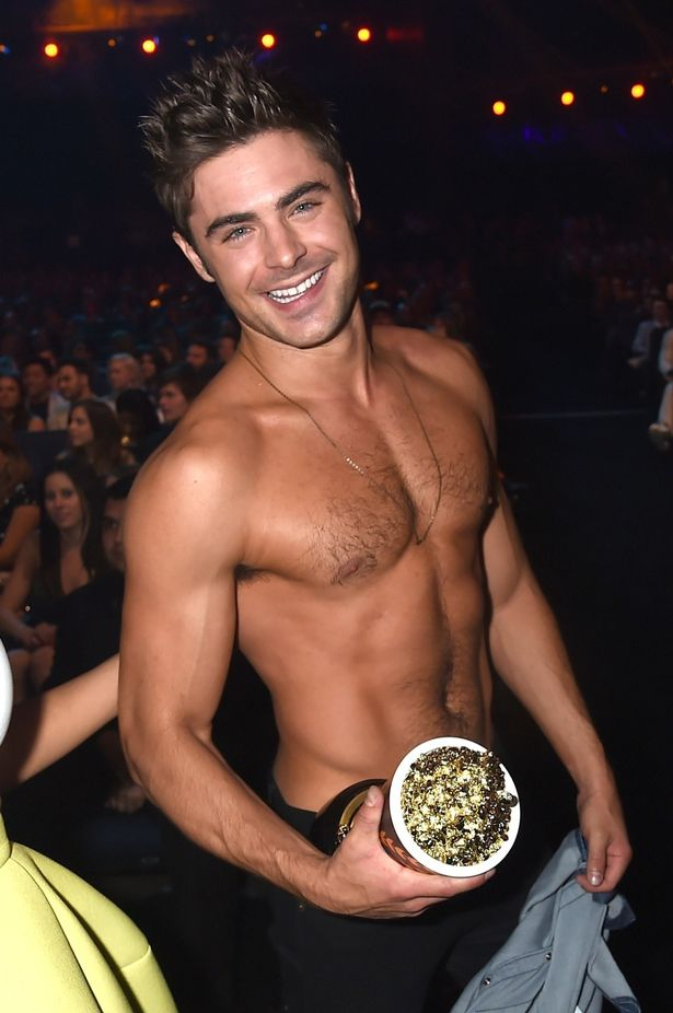 delicious photo of zac efron at movie awards