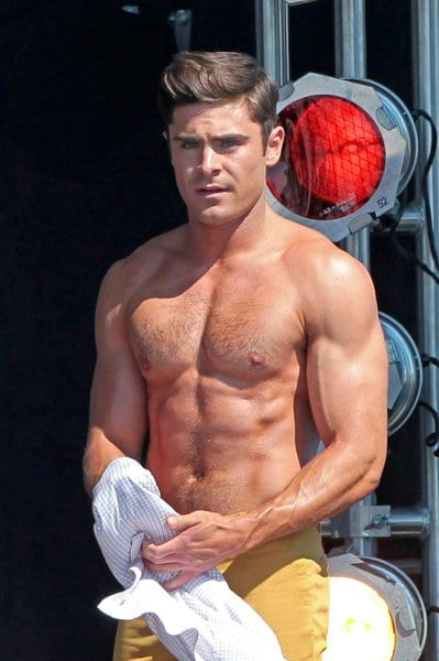 yummy abs of zac efron at the beach