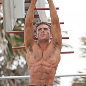 efron working out at the beach