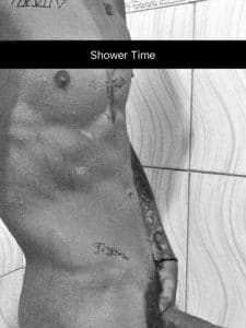 celeb justin bieber shows off his dick in the shower