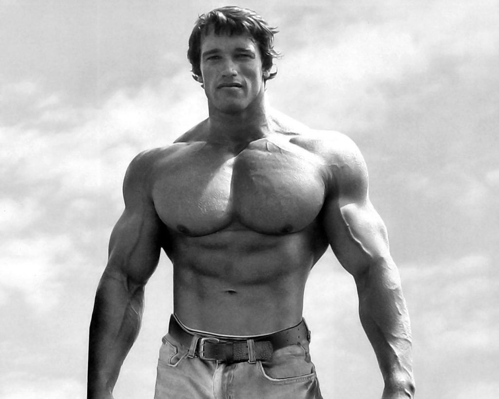 Arnold Schwarzenegger amazing chest