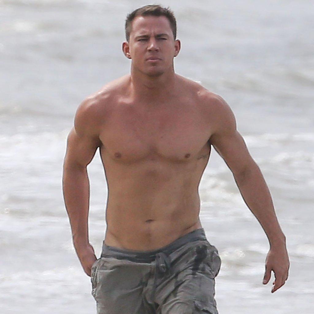 Channing Tatum no shirt
