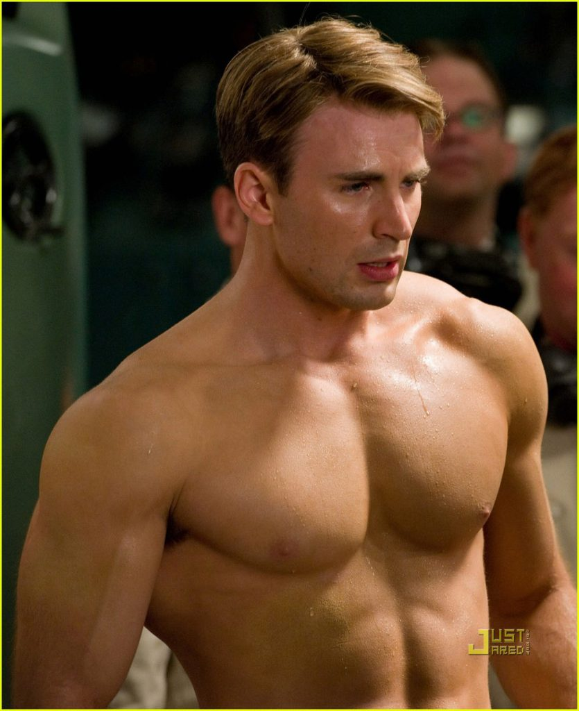 Chris Evans perfect chest