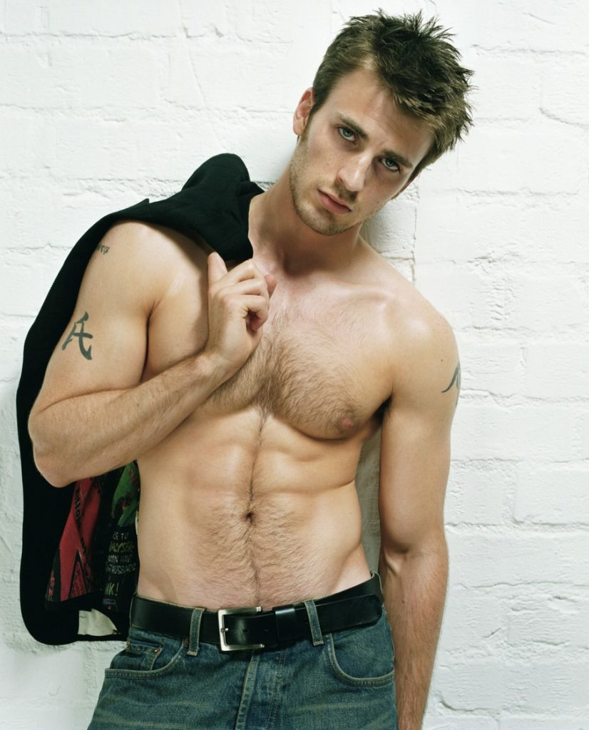 Chris Evans beautiful body