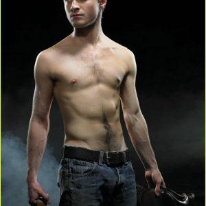 Daniel Radcliffe NSFW no shirt on
