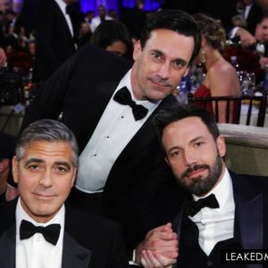George Clooney, Jon Hamm and Ben Affleck
