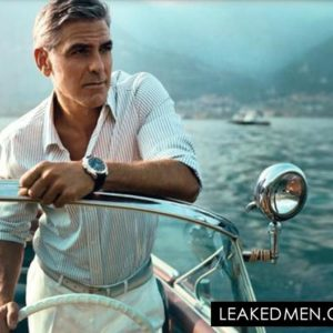 George Clooney on his boat in Lake Cuomo