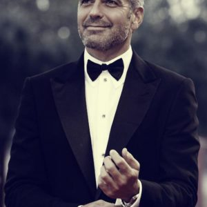 George Clooney in a tuxedo