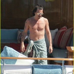 actor johnny depp naked leaked photo of him on a boat
