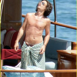 pic of johnny depp with shirt off on a boat