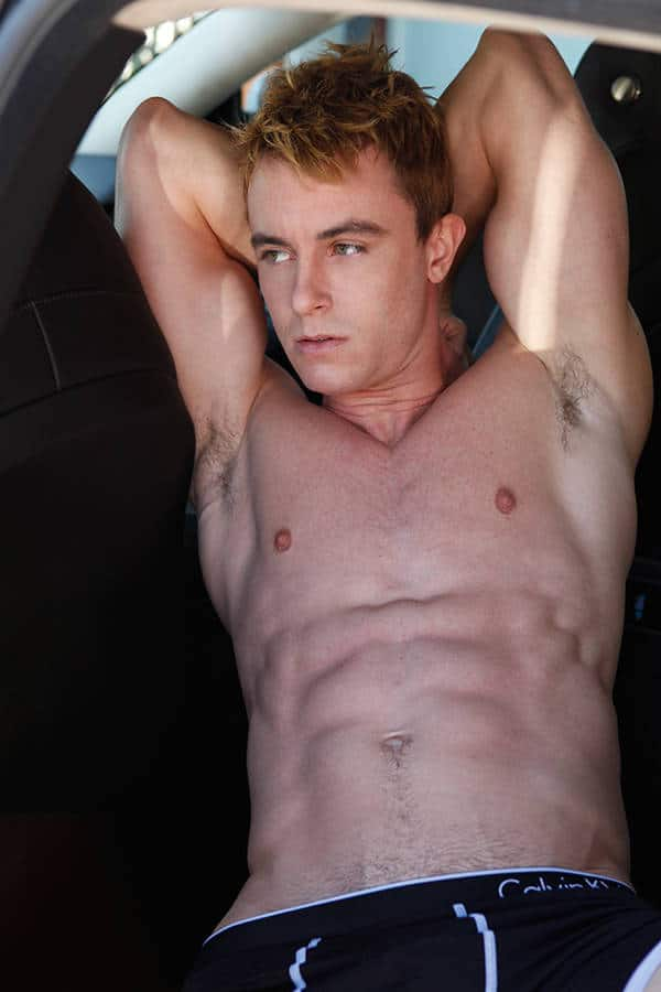 hot boy ryan kelley shirtless showing off his abs