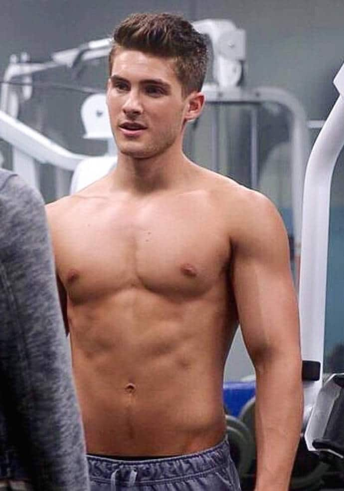 hot pic of celebrity cody christian showing off his abs on Teen Wolf tv show