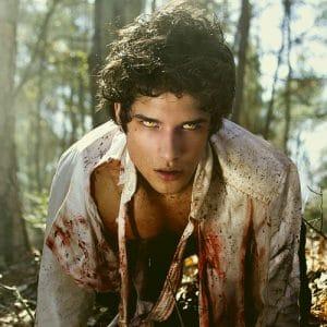 actor Tyler Posey as Scott McCall as a werewolf