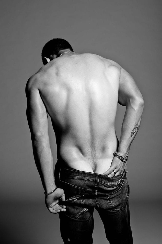Nick Jonas muscular back and ass