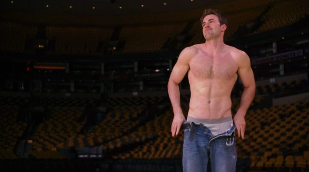 Chris Evans undressing