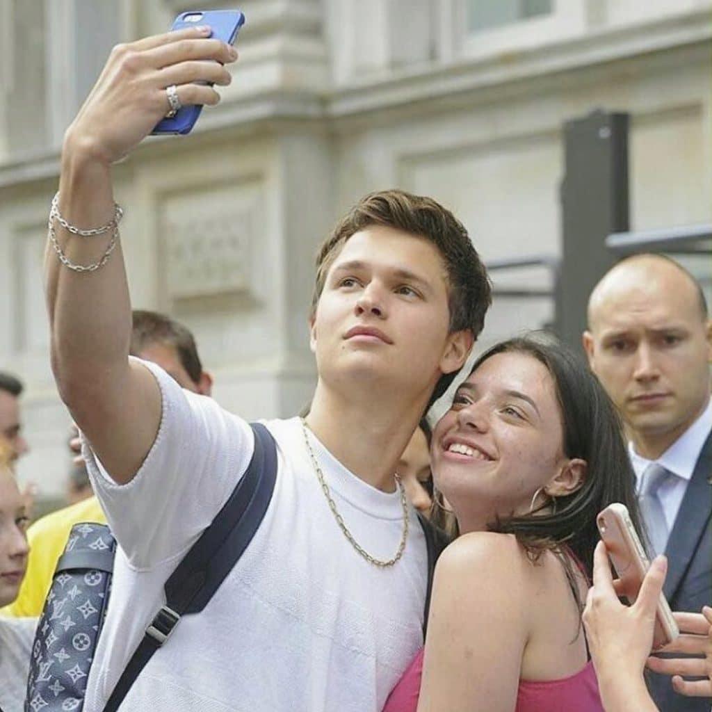 Ansel Elgort selfie
