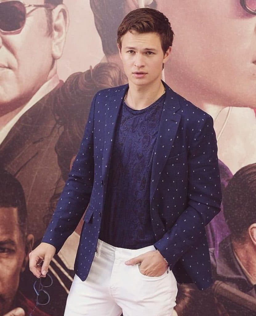 Ansel Elgort sexy outfit