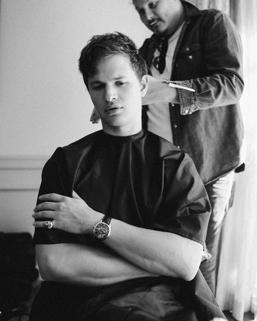 Ansel Elgort haircut hot