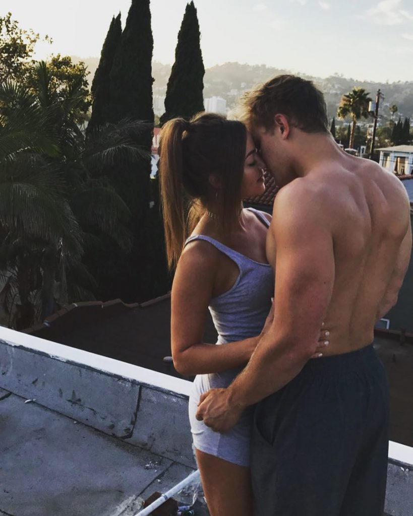 Jake Paul kissing some girl