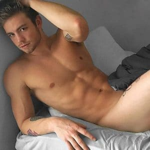 Dustin McNeer naked in bed