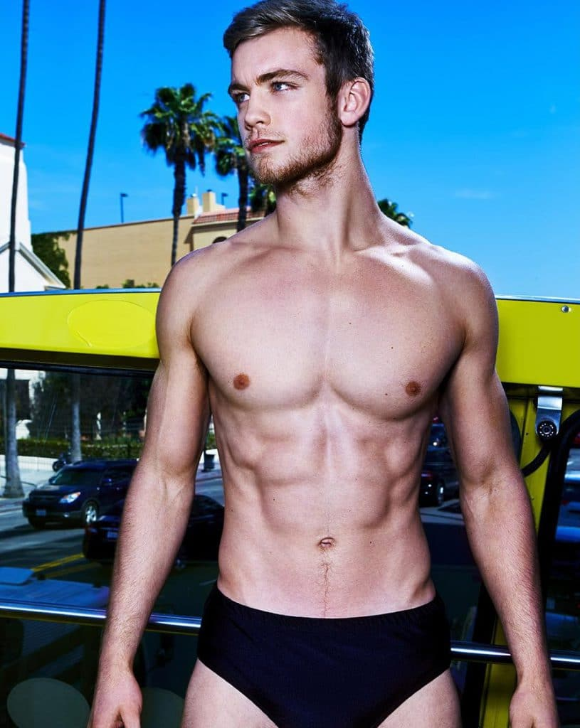 Dustin McNeer in black speedo