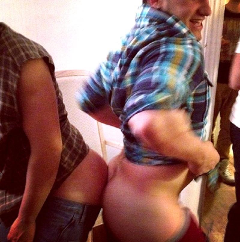 Josh Hutcherson with his pants down