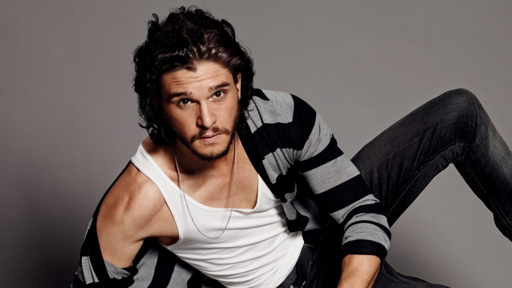 Kit Harington sexy photoshoot wearing jeans and wife beater