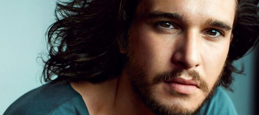 Kit Harington upclose photo wearing tshirt