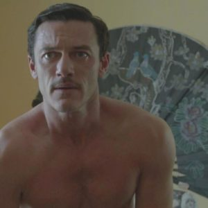 Luke Evans undressing