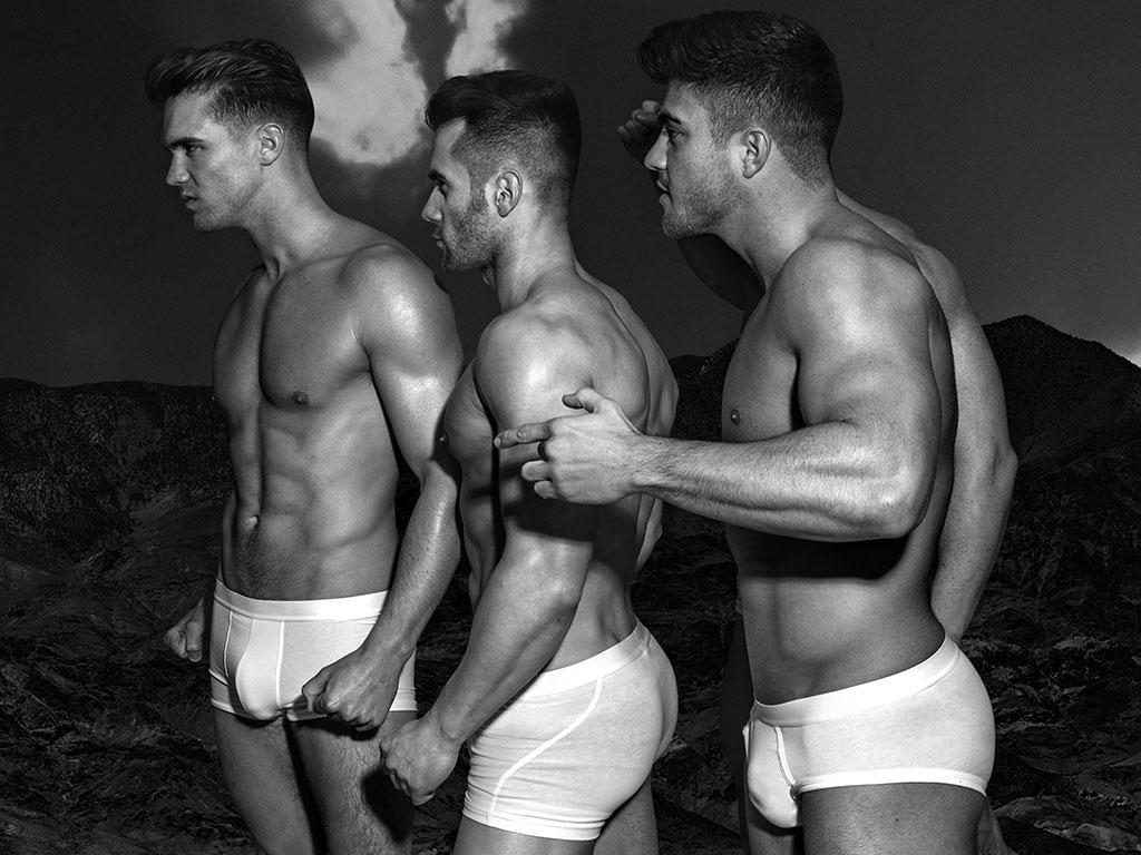 Rogan O'Connor and 2 friends in underwear