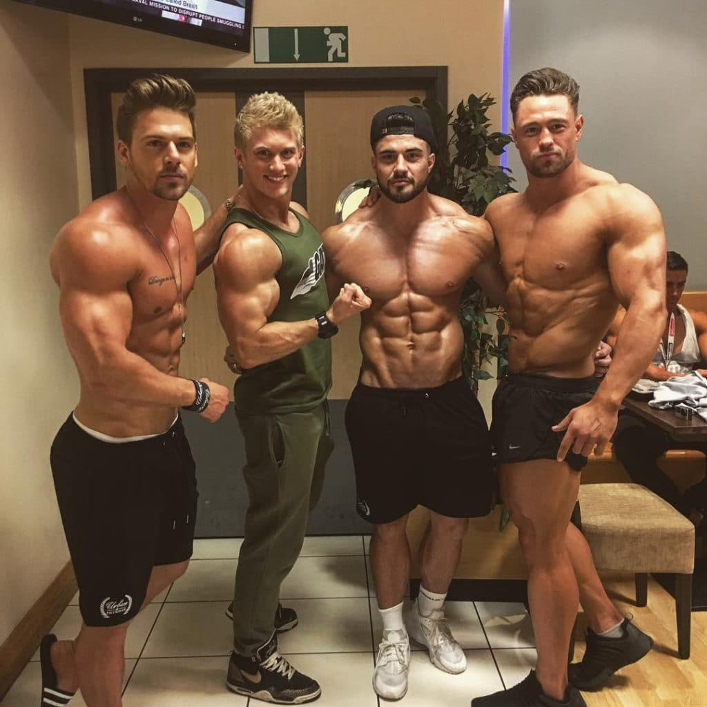 Rogan O'Connor and shirtless dudes