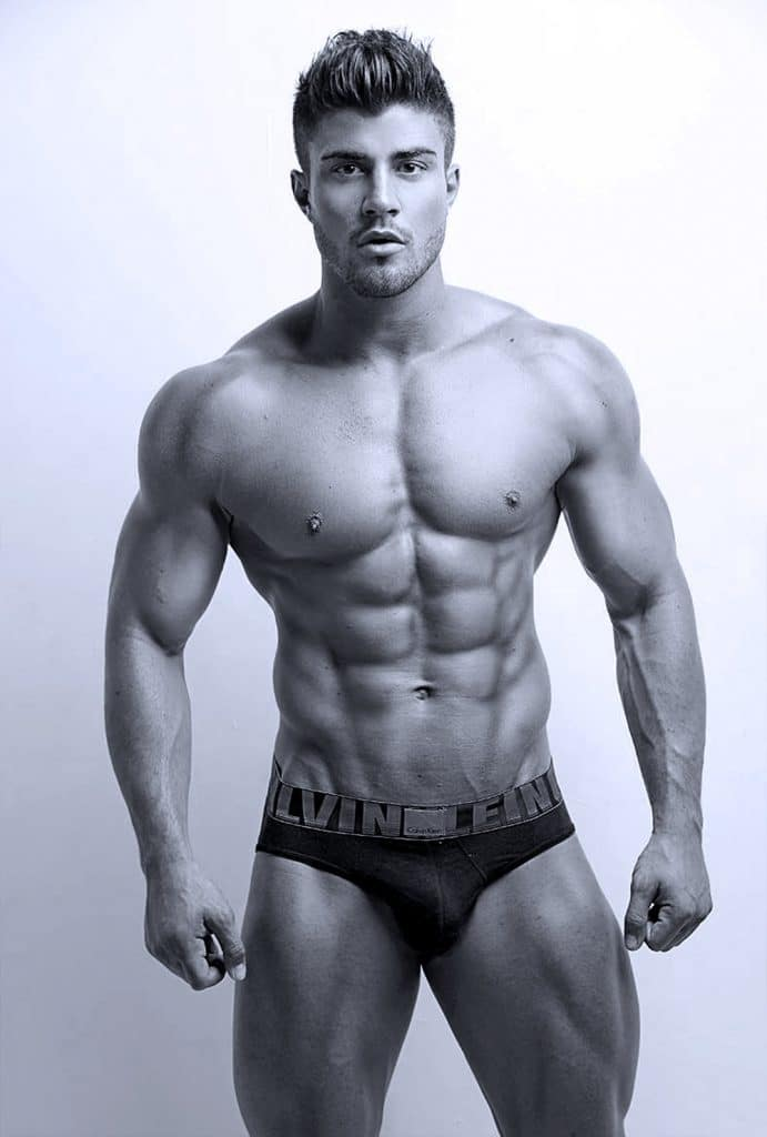 Rogan O'Connor Sexy and Shirtless Black and White