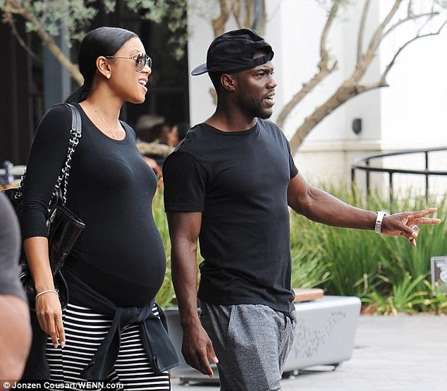 Kevin Hart with pregnant wife Eniko Parrish